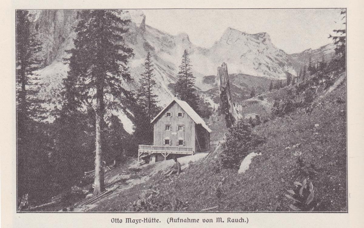 Otto Mayr-Hütte (Aufnahme von M. Rauch; ca. 1900 aus Allgäuer Alpen, Förderreuther)