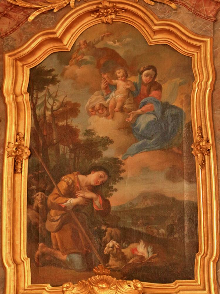 der Wendelinaltar der Wallfahrtskirche Maria Rain (Franz Anton Zeiller, 1761)