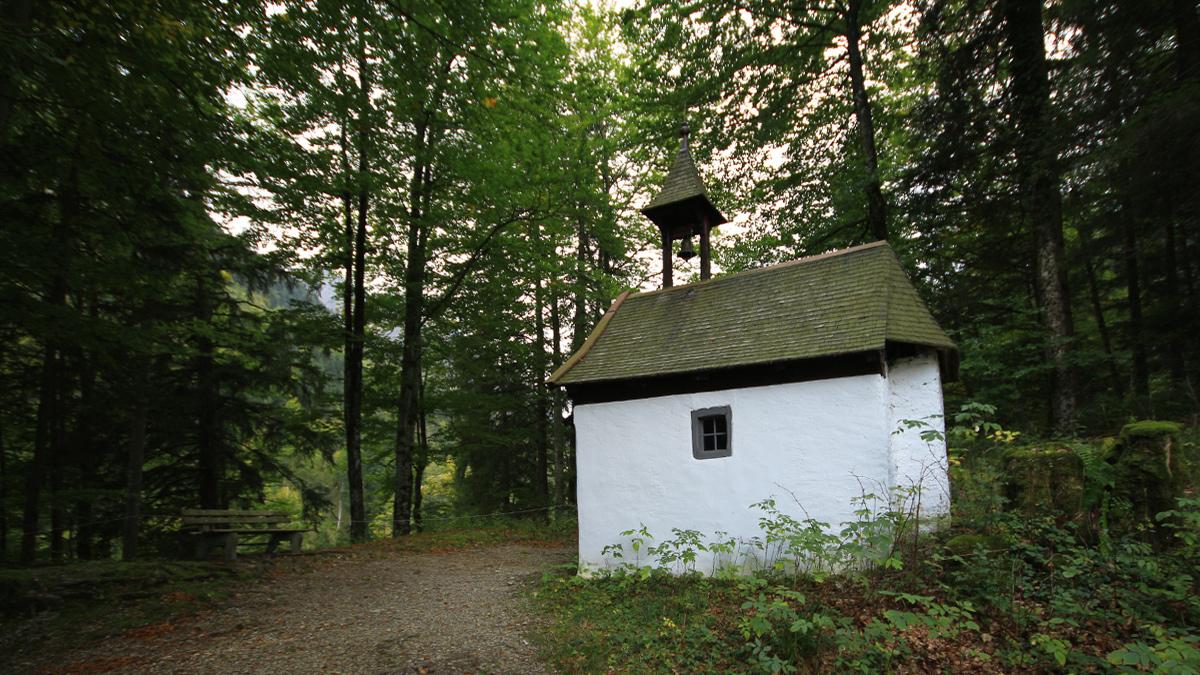 bei der Hornkapelle am Eingang des Retterschwanger Tals