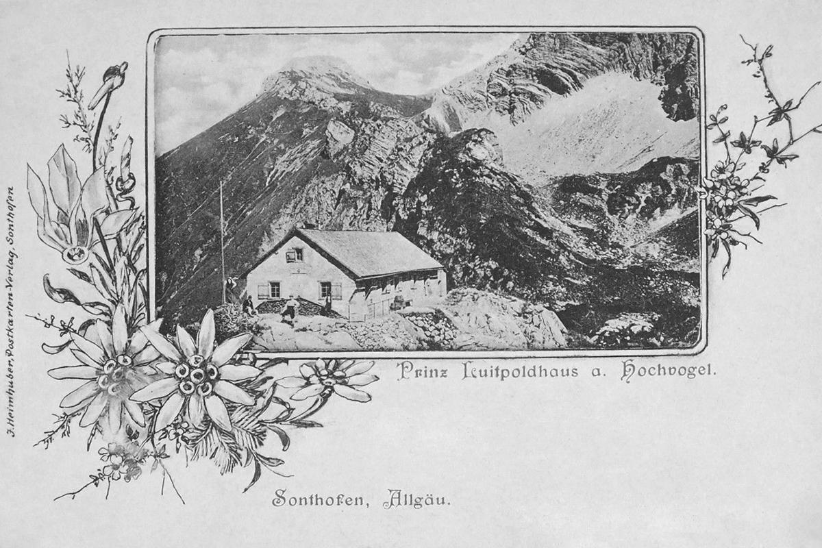 das Prinz-Luitpold-Haus in einer frühen Aufnahme (Ende 19. Jhdt.) von J. Heimhuber (Sonthofen)
