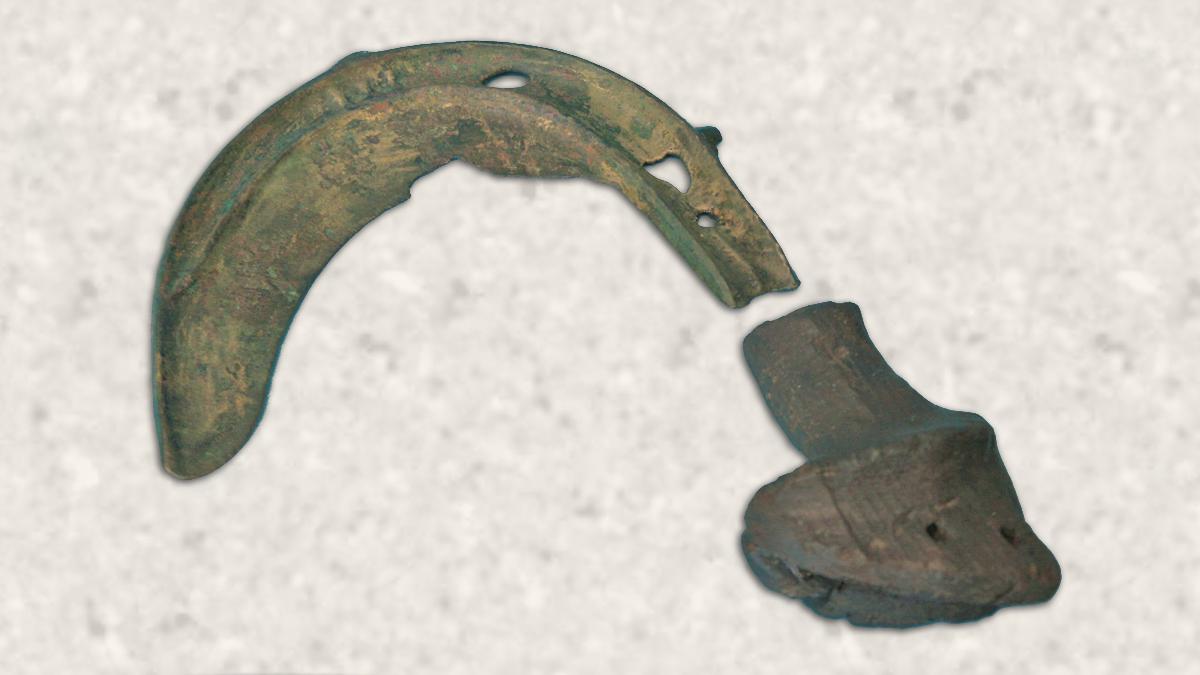 bronzezeitliche Sichel für die Getreideernte