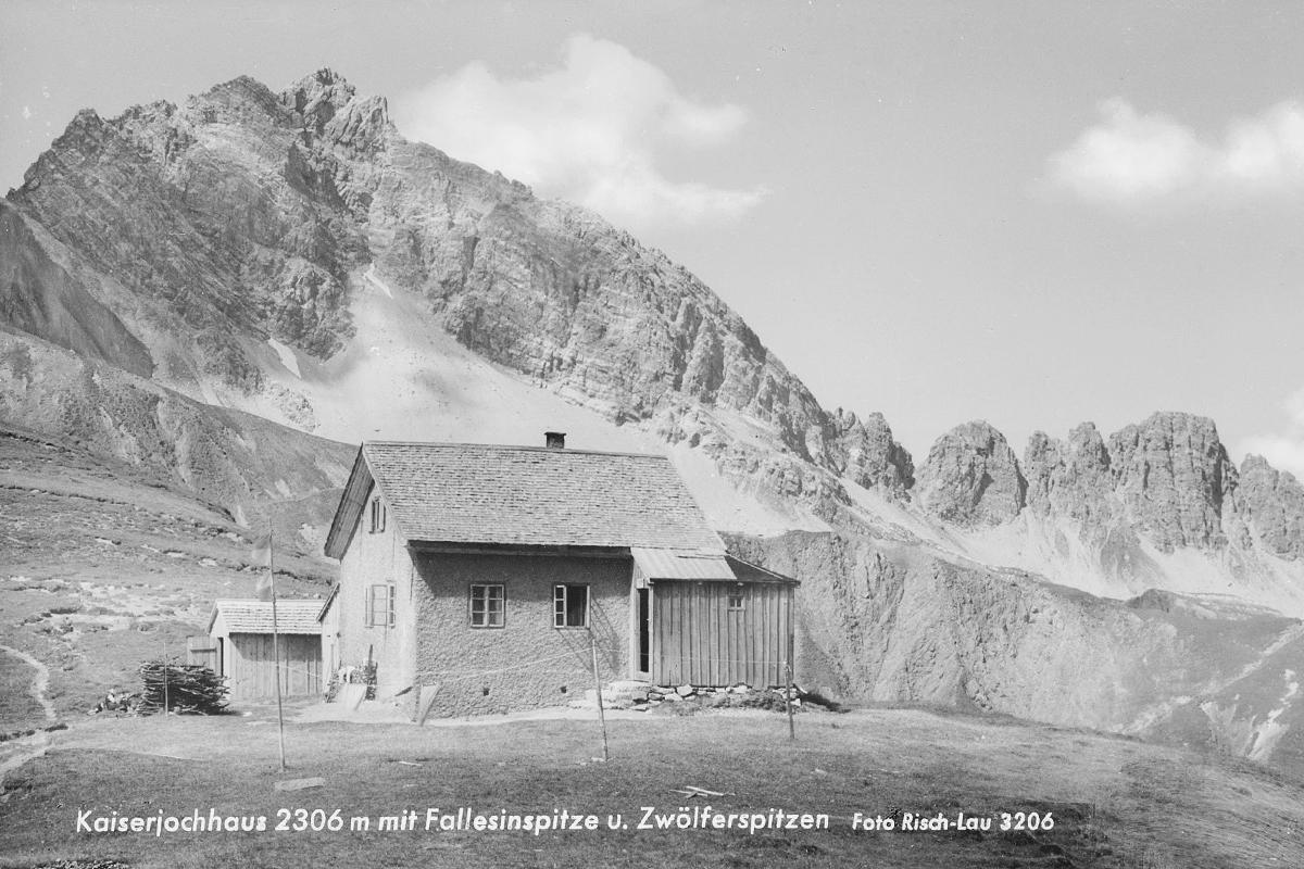 kaiserjoch kaiserjochhaus schutzhütte fallesinspitze zwölferspitze
