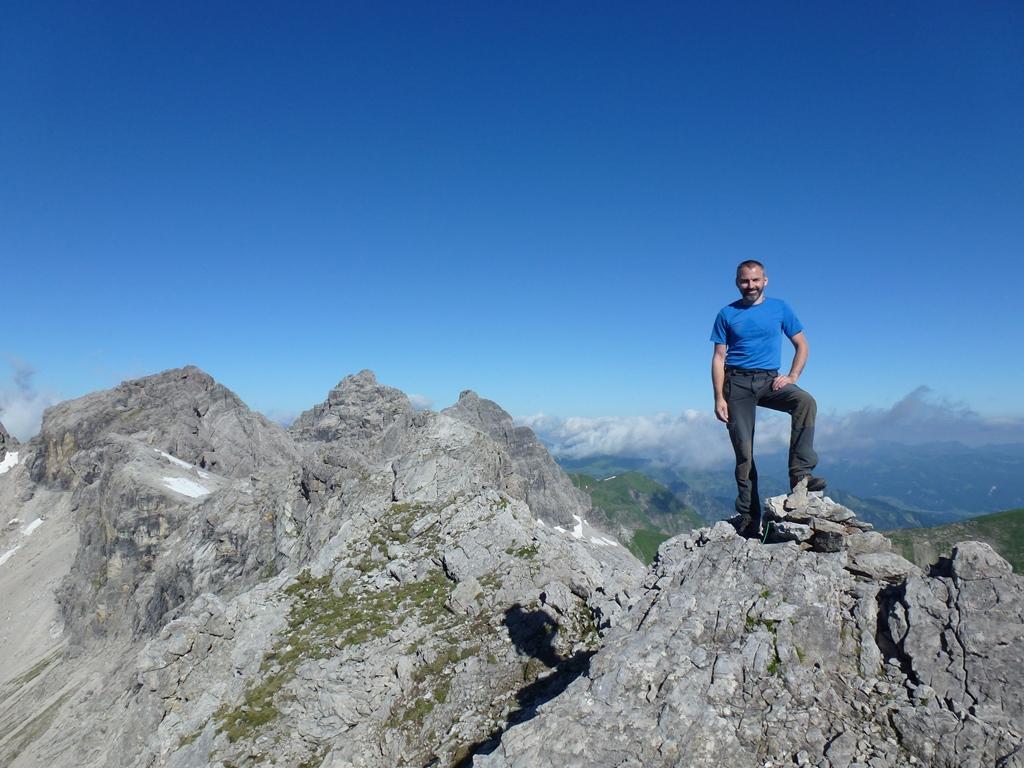 mit Blick zur Westlichen Faulewandspitze, Krottenspitze, Öfnerspitze und Horbachsspitze.  T5, I+  Tour vom 4.7.17