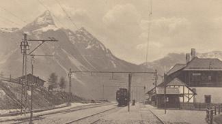 Bahnstation Ehrwald mit Sonnenspitze