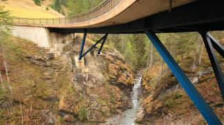 sommerbergbachbrücke schlucht sommerbergbach namloser