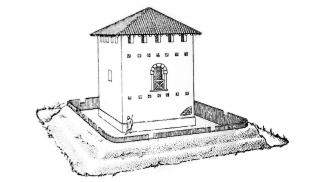 Rekonstruktion Burgus Ahegg