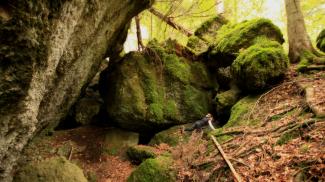 höhlen schlund rappenfluh nagelfluh felsbrocken