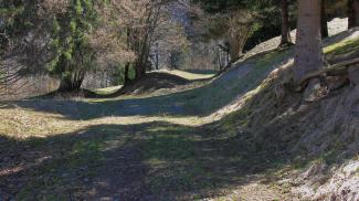 Via Claudia Augusta als Hohlweg nördlich der Ehrenberger Klause