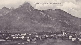 Reutte - Obermarkt mit Gernspitze