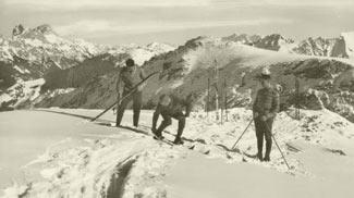 Skifahrer am Zirleseck