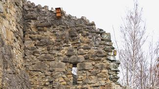 Mauerwerk Ruine Laubenbergstein