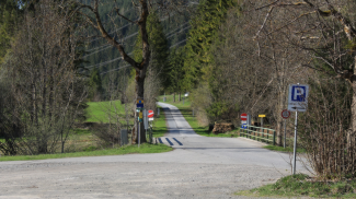 Trasse der Via Claudia Augusta westlich von Bichlbach