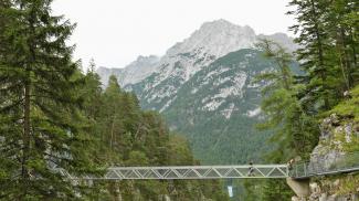 Panoramabrücke und Karwendelblick