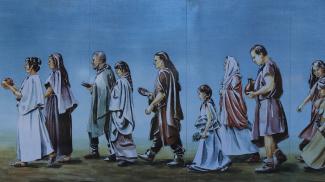 gallorömische Opferprozession im Tempelbezirk im APC Kempten