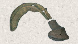 bronzezeitliche Sichel - ArchäoPark Federseemuseum, Bad Buchau