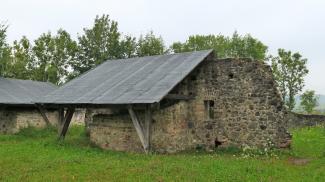 Mauerreste der Burg Wolkenberg
