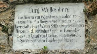 Gedenktafel Wolkenberg