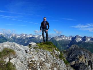 Karlesspitze 2378m und Wannenspitze 2362m