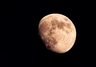 Mond über Süddeutschland