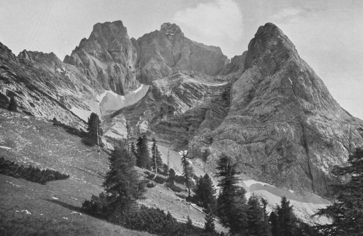 die Freispitze und der Dreischartlkopf - Foto: Dr. L. L. Kleintjes - aus: Zeitschrift des DÖAV (1911)
