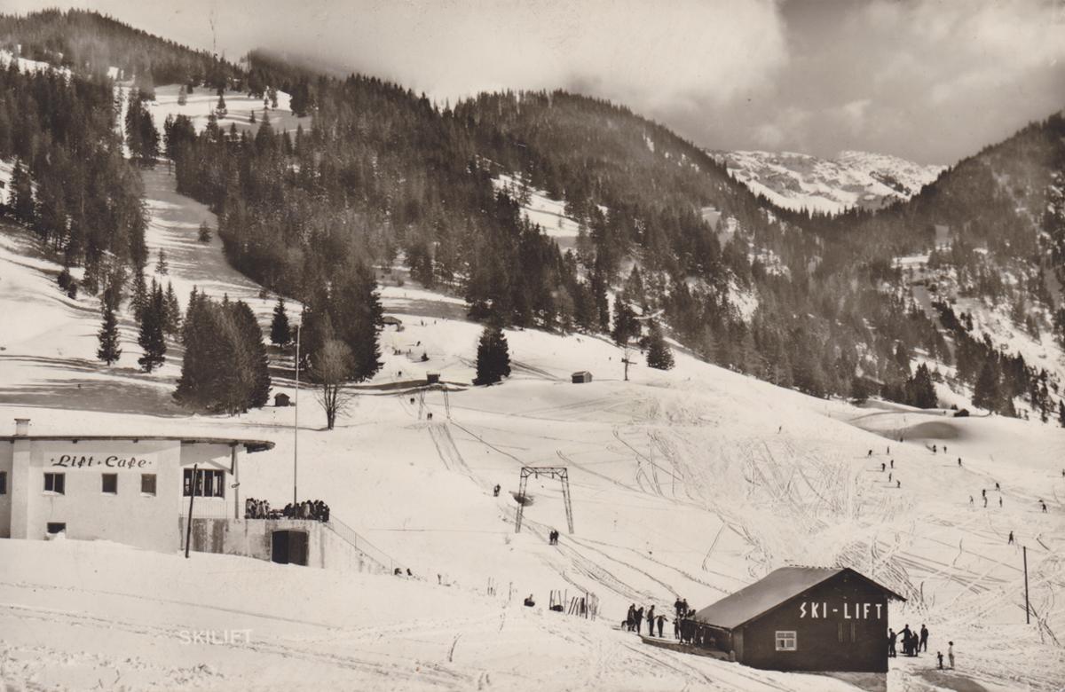 der sogenannte Gutheinz-Lift bei Tannheim - Foto: Franz Milz Verlag - vmtl. 1964?