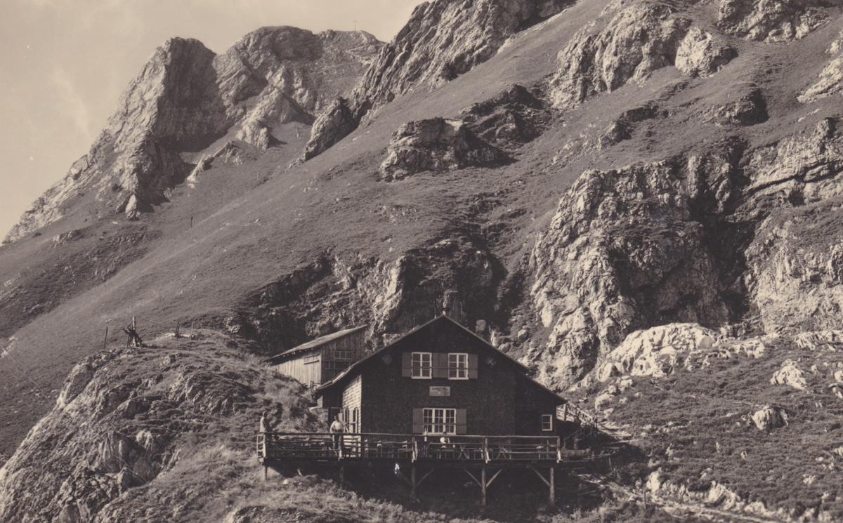 die Pfronterhütte im Jahr 1951 - Foto Gehring
