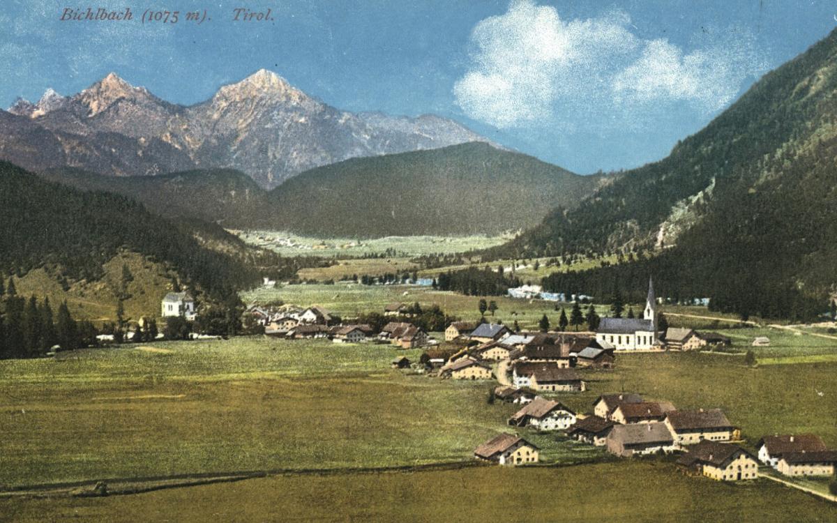 der Ort Bichlbach um etwa 1910
