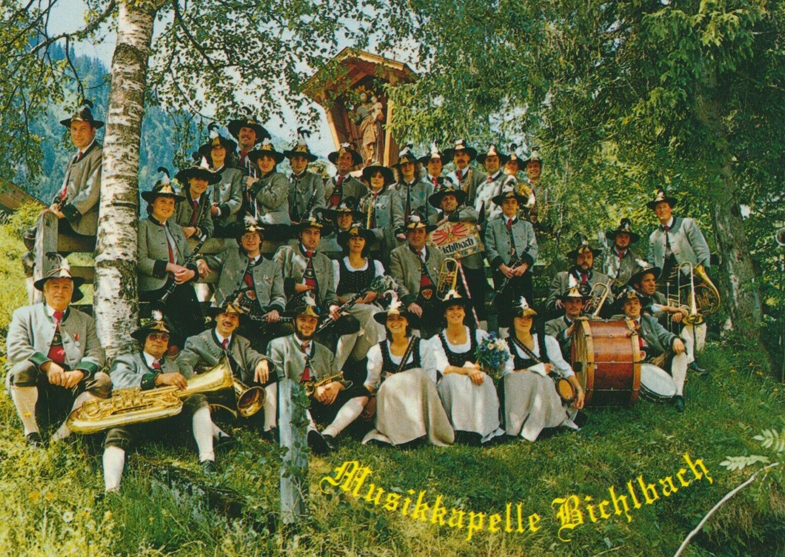 die Musikkapelle Bichlbach in der Aufstellung von 1983