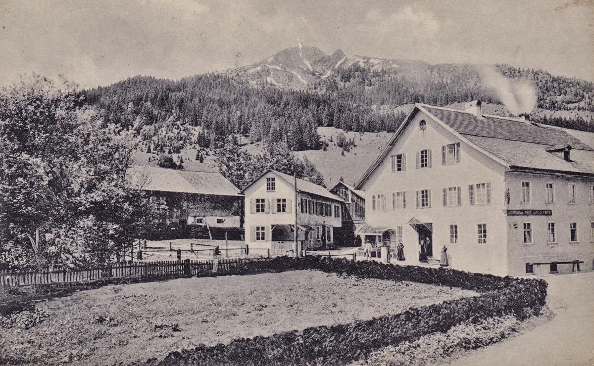 das Gasthaus zur Post im Jahr 1907 - interessant ist der Bau in der Bildmitte - Foto: J. Heimhuber