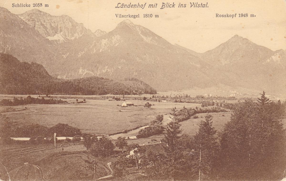 seinerzeit ein sehr beliebtes Ausflugsziel - der Ländenhof - K. Zerle (1908) - Karte gelaufen