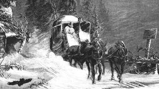 Post im Schnee