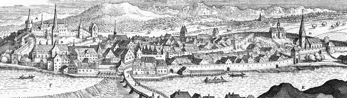 Füeßen im Jahr 1643 von Matthäus Merian