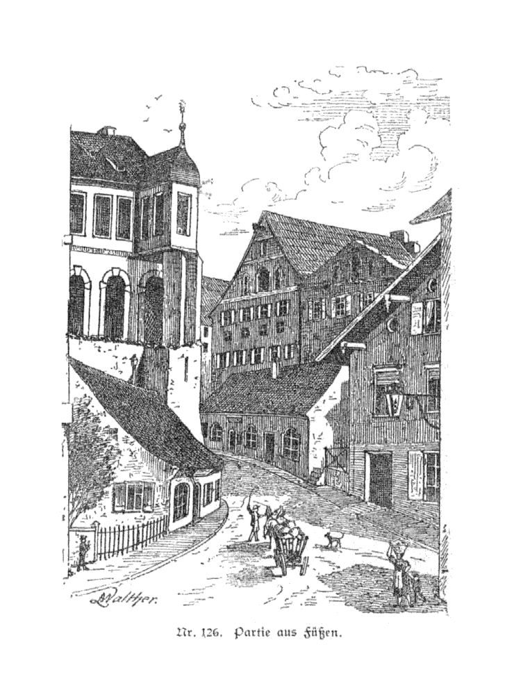 Füssen Lechhalde - Geschichte des Allgäus (Baumann)