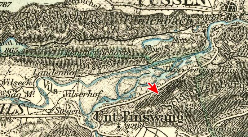 Kartenausschnitt Rotwand - Weißhaus und Kratzerweg