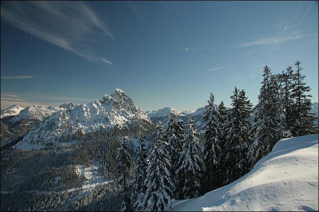 herrlicher Wintertag - und das Ballonfestival hat auch begonnen