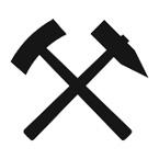 Symbol Bergbau - Zunftzeichen Bergleute