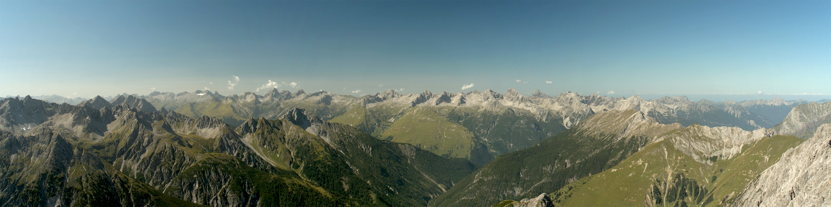 Panorama Hornbachkette