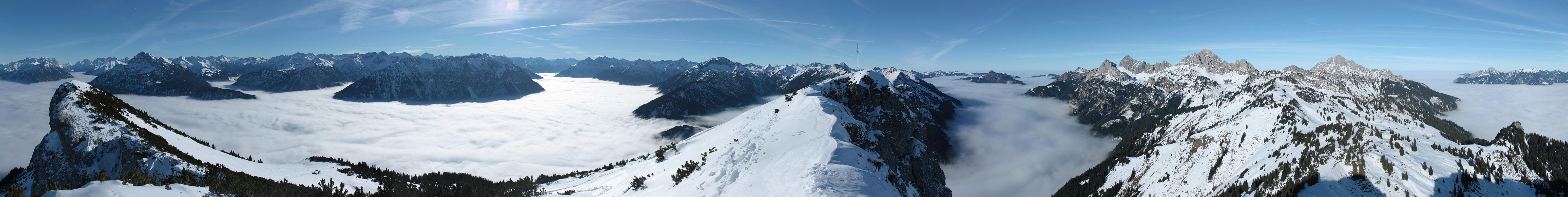 Panorama von der Gaichtspitze